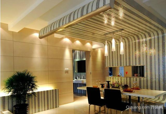 法式餐厅吊顶效果图