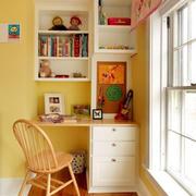 书房简约风格书柜装饰