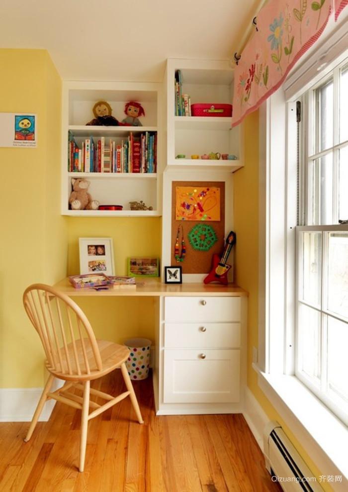 现代简约卧室小书房装修效果图