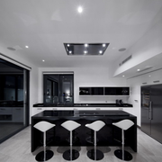 黑白色调厨房展示