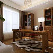 书房实木书桌书柜