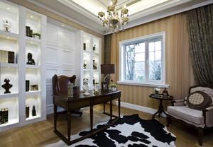 大户型瑰丽奢华风格书房设计装修效果图