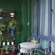 阳台简欧桌椅