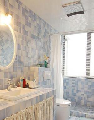 两室一厅韩式精美田园风格卫生间装修效果图