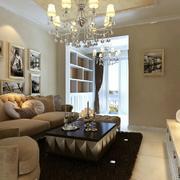 单身公寓客厅照片墙