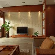 咖啡色实木客厅