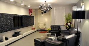 120平大户型法式客厅电视背景墙装修效果图