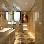 明亮金色卫生间图片