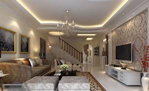 复式楼客厅装修室内设计效果图