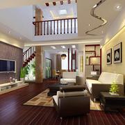 复式楼客厅生态木地板