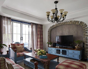 地中海复古客厅