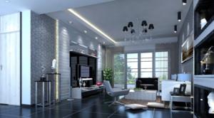 100平米后现代风格客厅简约装修效果图