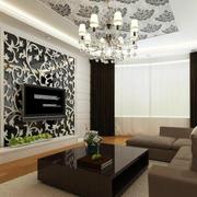 时尚风格电视墙效果图