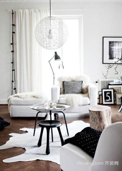精美田园风格客厅布艺沙发装修效果图