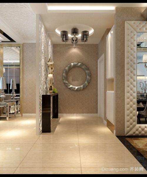 三室二厅欧式客厅进门玄关鞋柜装修效果图
