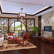三室二厅客厅玄关设计
