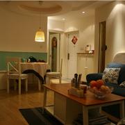 温暖色调的客厅