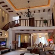 美式别墅楼梯装饰