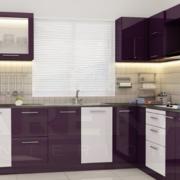 紫色调橱柜设计图片