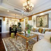 复式楼客厅温馨装饰