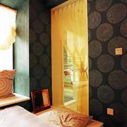 暖色调门帘设计图片
