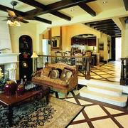 复式楼客厅美式设计