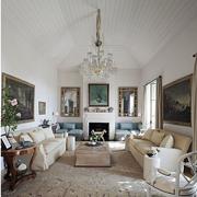室内美式现代客厅