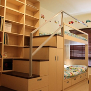 小户型儿童房置物柜