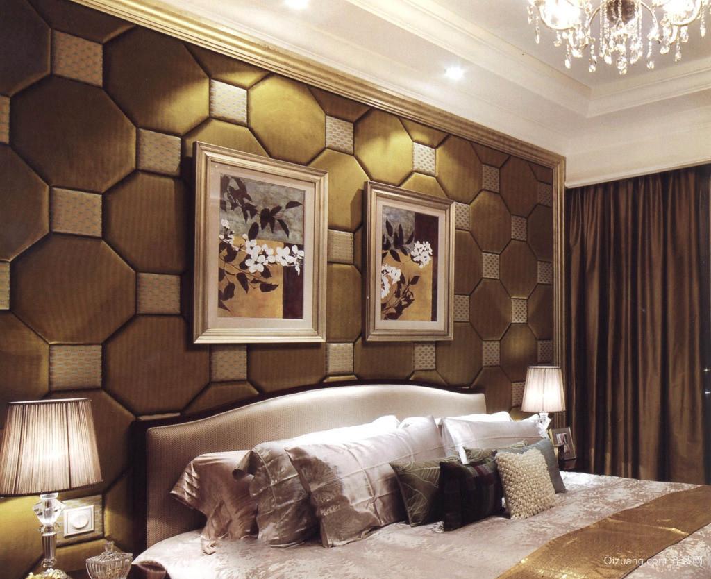 单身公寓北欧风格卧室背景墙装修效果图