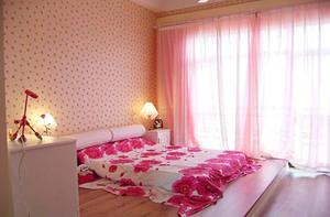 温馨素雅女生卧室壁纸装修效果图