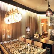 温馨系列客厅餐桌图片