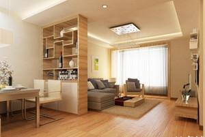 80平现代简约客厅隔断装修效果图