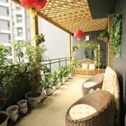 自然风格阳台设计图片