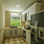 L字型小厨房图片