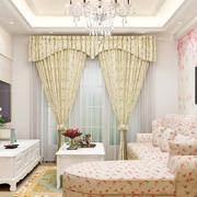 淡色调客厅窗帘图片