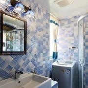 蓝色卫生间瓷砖