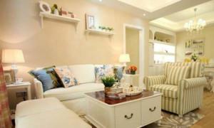 70平米韩式自然清新客厅装修效果图