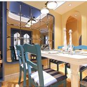 简约地中海餐厅桌椅