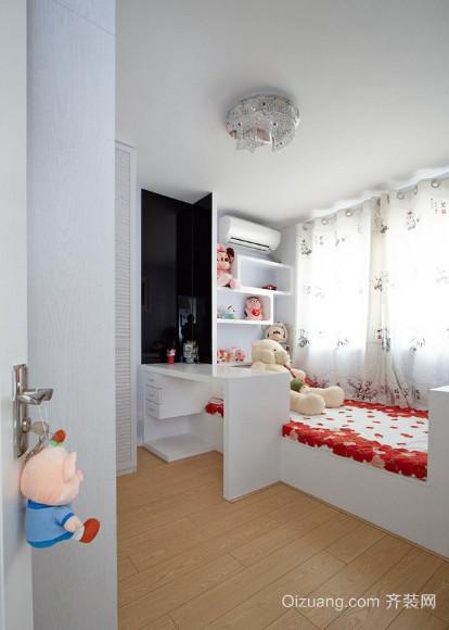 20 平米现代简约儿童房 榻榻米装修效果图 齐装