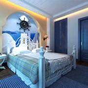 卧室地中海蓝色装潢