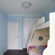 小户型儿童房蓝色墙面