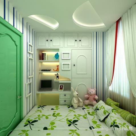 20平米现代简约儿童房榻榻米装修效果图