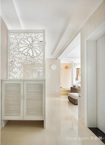 单身公寓现代欧式客厅进门玄关鞋柜装修效果图