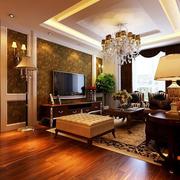 三室一厅美欧式客厅