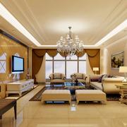 三室一厅豪华客厅