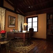 美式风情的书房