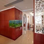 玄关鱼缸造景图片