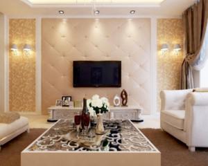 客厅软包电视墙