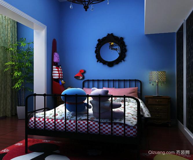 三室一厅美式田园风格儿童房装修效果图