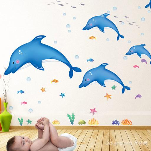 70平米时尚简约风格儿童卧室墙贴装修效果图